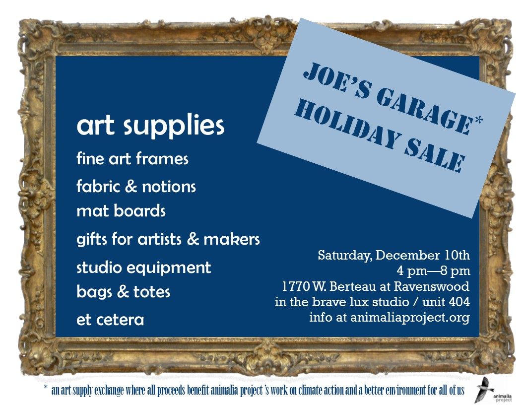 Joe's Garage Holiday Sale 12/10/16 4 pm - 8 pm at 1770 W. Berteau Ave Chicago