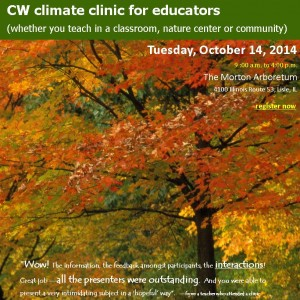 climate clinic social pic 10_14_14 animalia project morton arboretum