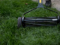 lawn mower human powered rotary reel ghg air pollution